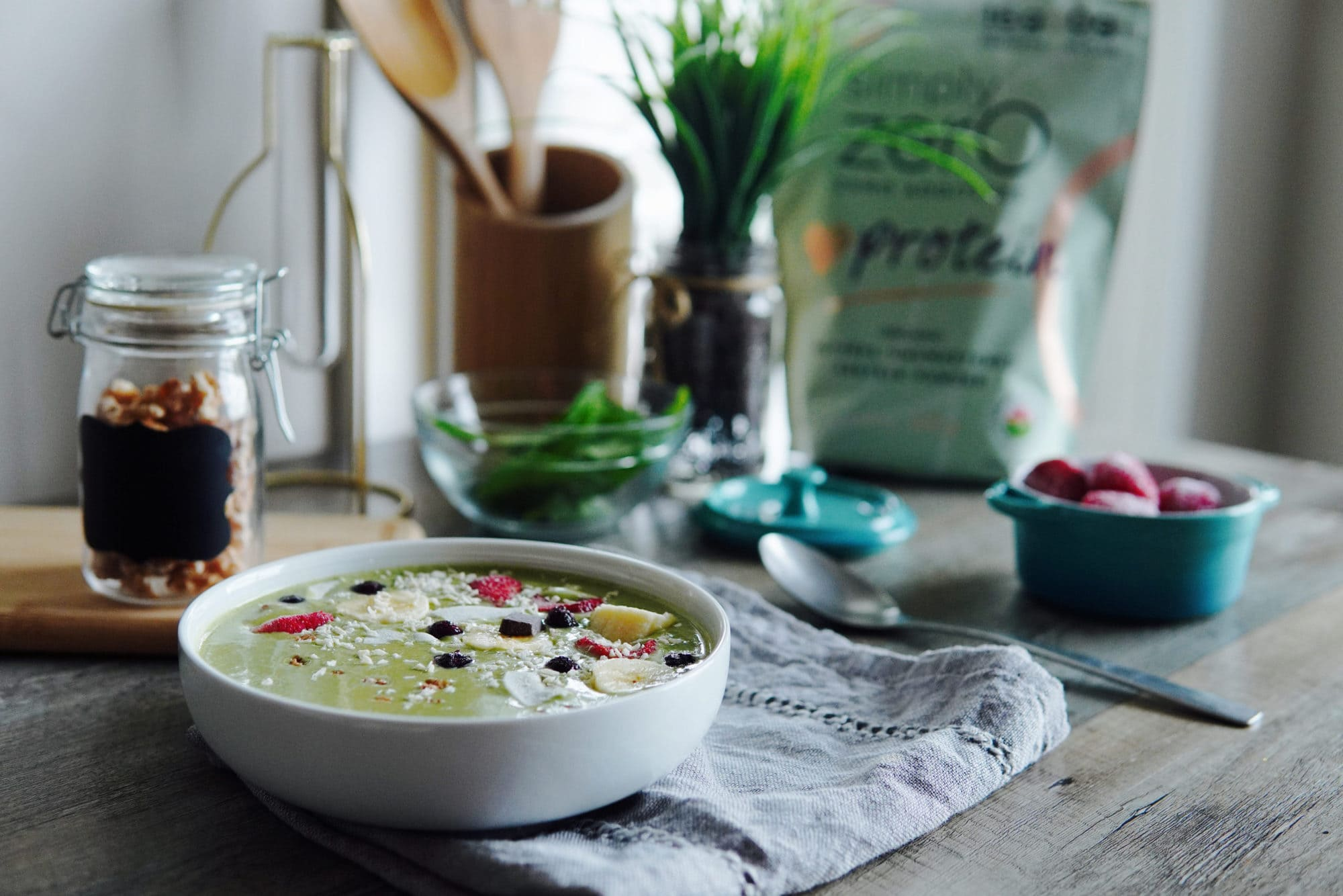 All purpose green smoothie bowl (high protein)